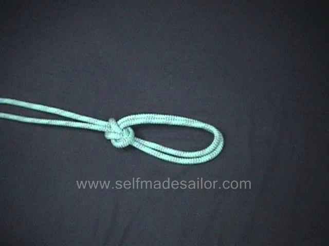 A knot tying video showing how to tie a Bowline On The Bight.